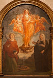 Verona - Assumption of St. Mary Magdalen. Paint from side altar in Saint Anastasia's church Royalty Free Stock Image