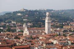 Verona auf von der Oberseite Lizenzfreies Stockbild