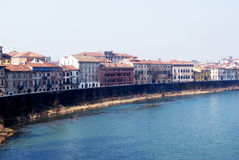 Verona bank view. In Italy stock photography