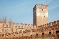 Verona - bastion of Castel Vecchio Stock Images