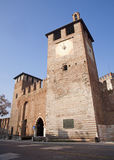 Verona - bastions of Castel Vecchio Stock Images