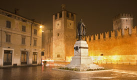 Verona - bastions of Castel Vecchio Royalty Free Stock Photos