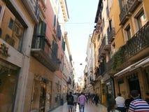 Verona. Beautiful Veronese Street in Italy Stock Images