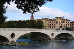 Verona bridge and the Adige River Royalty Free Stock Image