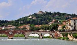 Verona bridge, Italy Stock Photography