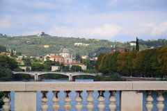 Verona bridges and the Adige River Royalty Free Stock Photography
