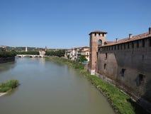 Verona - castelo medieval Imagens de Stock