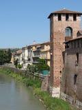 Verona - castelo medieval Fotografia de Stock