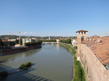 Verona - castelo medieval Fotos de Stock