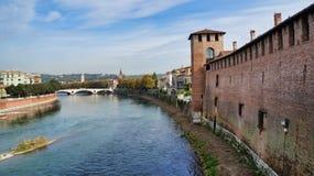 Verona Castelvecchio Museum stock foto's