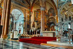 Verona Cathedral interior Stock Images