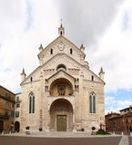 Verona Cathedral, Italy. Facade of Verona Cathedral (Duomo of Verona), Italy royalty free stock images