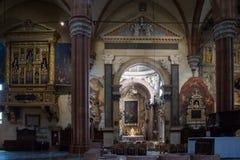 Verona Cathedral l'interno fotografia stock libera da diritti