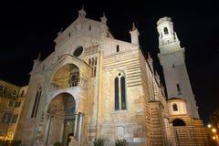 Verona Cathedral at Night- Veneto Italy Royalty Free Stock Image