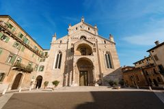 Verona Cathedral - Veneto Italien Europa royaltyfri fotografi