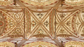 Verona - Ceiling of gothic-romanseque church Santa Anastasia Royalty Free Stock Images