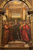 Verona - Chapel Miniscalchi in Saint Anastasia's church  - Pentecost Stock Images