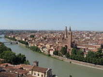 Verona city centre and river Royalty Free Stock Images