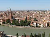 Verona city centre and river Stock Photos