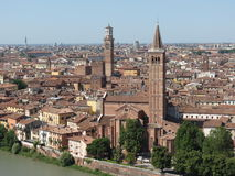 Verona city centre and river Royalty Free Stock Photo