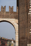 Verona city gate Stock Image