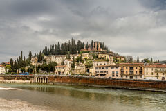 Verona city view. A riverside view of Verona Stock Photos