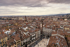Verona. Cityscape - Aerial view of Verona, Italy stock photos
