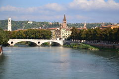 Verona cityscape, Italy Royalty Free Stock Photos
