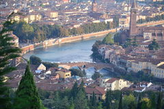 Verona cityscape, Italy Stock Photos