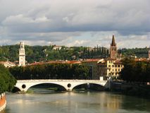 Verona cityscape, Italy Stock Photography