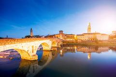Verona cityscape view royalty free stock photography