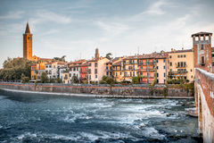 Verona cityscape view stock images