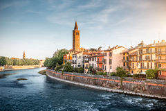 Verona cityscape view stock photography