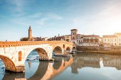Verona cityscape view stock image