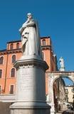 Verona - Dante monument Stock Image