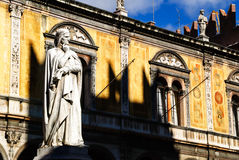 Verona dante statue Stock Image