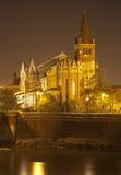 Verona - de kerk van San Fermo Maggiore bij nacht Stock Fotografie