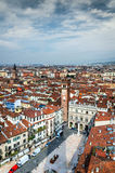 Verona, delle Erbe da praça Fotos de Stock