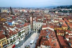 Verona, delle Erbe de la plaza Fotografía de archivo libre de regalías