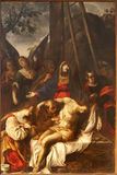 Verona - Deposition from the cross in church San Fermo Maggiore Royalty Free Stock Photo