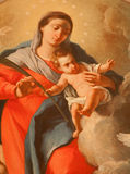 Verona - Detail of  Madonna  in church San Fermo Maggiore Royalty Free Stock Photography