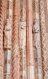 Verona - Detail of prophets statues from main portal of Duomo Stock Photography