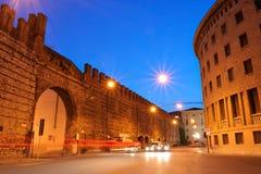 Verona downtown by night stock photo