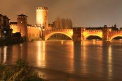 Verona em a noite, Italy fotografia de stock