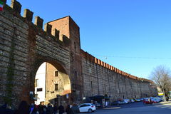 Verona fortecy ściana Włochy Zdjęcia Royalty Free