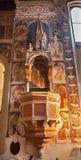 Verona - fresco del púlpito medieval en la iglesia de San Fermo Fotos de archivo