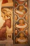 Verona - fresco del púlpito medieval en la iglesia de San Fermo Imágenes de archivo libres de regalías
