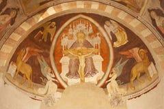 Verona - Fresco of holy Trinity - Chiesa di Santissima Trinita Royalty Free Stock Photos