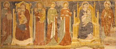 Verona -  Fresco from main nave of Basilica di San Zeno Stock Image