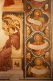 Verona - Fresco from medieval pulpit  in San Fermo church Royalty Free Stock Images